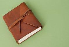 Het oude Dagboek van het Leer stock fotografie