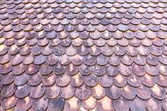 Het oude dak van de kleitegel Royalty-vrije Stock Foto