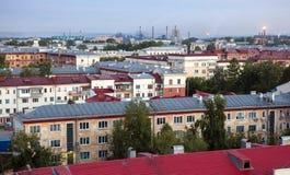 Het oude dak van de stadsmening royalty-vrije stock foto's