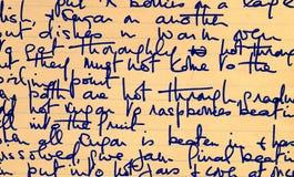 Het oude detail van het receptenhandschrift Royalty-vrije Stock Afbeeldingen