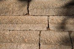 Het oude detail van steentreden Stock Afbeelding