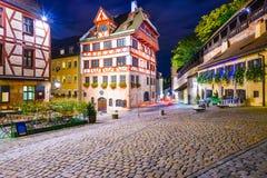 Het Oude District van Nuremberg Royalty-vrije Stock Foto