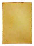 Het oude document met voorgekomen emarginated royalty-vrije stock afbeelding