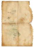 Het oude document van Grunge met vlek voor het desing Stock Afbeeldingen