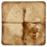 Het oude document van Grunge met vlek voor ontwerp Stock Afbeelding
