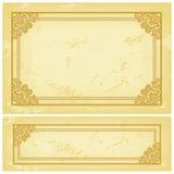 Het Oude Document van het frame Royalty-vrije Stock Fotografie