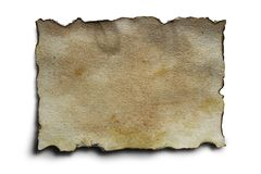 Het oude Document van het Perkament Royalty-vrije Stock Foto's