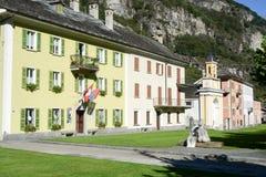 Het oude dorp van Cevio op Maggia-vallei Stock Foto's