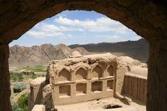 Het oude dorp van Charanak in Iran Stock Foto