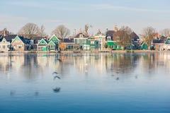 Het oude dorp van Zaan Schans stock foto's