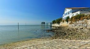 Het Oude Douanehuis, talmont-sur-Gironde, Frankrijk Stock Fotografie