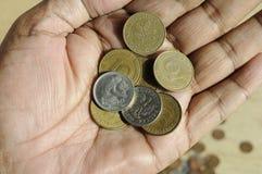 HET OUDE DUITS 10 PFENNING EN 50 POOLSE GROSZY Stock Foto's