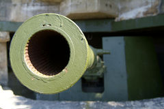 Het oude, Duitse kanon van WO.II royalty-vrije stock foto's