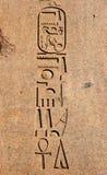 Het oude Egyptische Snijden van hiërogliefen Royalty-vrije Stock Afbeeldingen