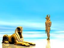 Het Oude Egyptische Standbeeld van de illustratie royalty-vrije illustratie