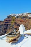 Het oude eiland van bootsantorini royalty-vrije stock foto's