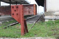 Het oude Einde van de Trein Stock Foto's