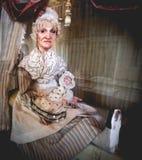 Het oude enge kwaad van het kindermeisjeoude wijf royalty-vrije stock foto