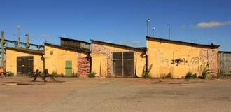 Het oude factorybuilding Stock Afbeeldingen