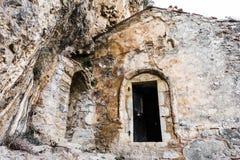 Het oude Filosofou-klooster ruïneert dichtbij Dimitsana en Stemnitsa stock fotografie