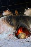 Het oude oude fornuis voor maakt rots tot zout Inheemse Kennis van kluea van BO in Nan-stad Stock Foto