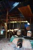Het oude oude fornuis voor maakt rots tot zout Inheemse Kennis van kluea van BO in Nan-stad Royalty-vrije Stock Afbeeldingen