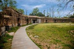 Het oude fort van Zhenjiangjiaoshan Royalty-vrije Stock Foto's
