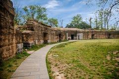 Het oude fort van Zhenjiangjiaoshan Stock Foto's