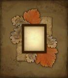 Het oude frame van de de herfstfoto Stock Afbeeldingen