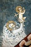 Het oude fresko en schilderen Stock Afbeelding
