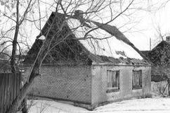 Het oude gebouw Stock Foto's