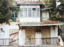Het oude gebouw Stock Afbeeldingen