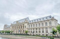 Het oude gebouw, Gerechtsgebouw van Boekarest Stock Foto's