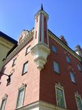 Het oude gebouw in Stockholm stock foto