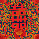 Het oude gelukkige naadloze patroon van bloemdeco Royalty-vrije Stock Fotografie