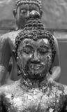 Het oude gezicht van Boedha. PHARE, Thailand Stock Foto