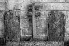 Het oude Gezicht van het Steenbeeldhouwwerk, Braga royalty-vrije stock foto