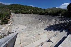 Het Oude Griekse Theater van Epidauros Stock Afbeelding