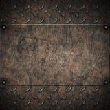 Het oude grungy metaal van de diamantplaat vector illustratie