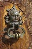 Het oude handvat van de de bouwdeur Stock Foto's