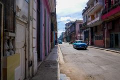 Het oude Havana City-leven royalty-vrije stock afbeeldingen