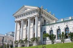 Het oude herenhuis van de 18de eeuw - het Pashkov-Huis Momenteel, de Russische Bibliotheek van de Staat in Moskou stock foto's