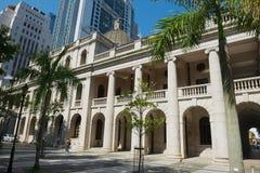 Het Oude Hooggerechtshofgebouw in Hong Kong, China stock afbeelding