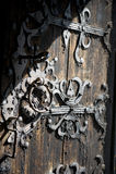 Het oude Houten Detail van de Deur Royalty-vrije Stock Foto's