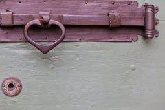 Het oude houten handvat van de deurbout Royalty-vrije Stock Foto