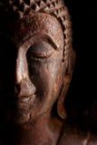 Het oude houten standbeeld van Boedha Royalty-vrije Stock Fotografie