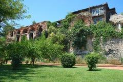 Het oude huis in het historische deel van Istanboel royalty-vrije stock fotografie
