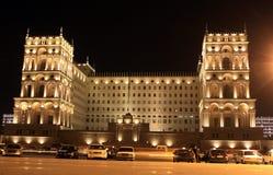 Het oude Huis van de Overheid in Baku Stock Afbeeldingen