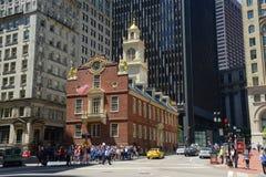 Het oude Huis van de Staat, Boston, doctorandus in de letteren, de V Stock Afbeeldingen