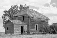 Het oude Huis van het Landbouwbedrijf van de Prairie Royalty-vrije Stock Fotografie